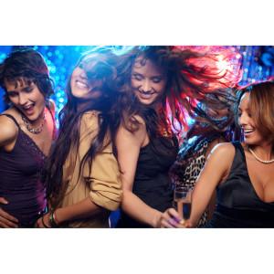 Girls dancing at corporate function
