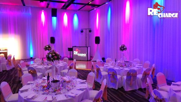 Wedding setup at BCEC